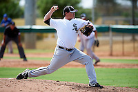 Chicago White Sox minor league pitcher Eric Jaffe #59 during an instructional league game against the Los Angeles Dodgers at the Camelback Ranch Training Complex on October 6, 2012 in Glendale, Arizona.  (Mike Janes/Four Seam Images)