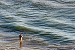 Surf Fishing, Corona del Mar, CA.