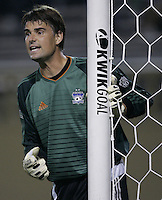 21 September 2005: Pat Onstad of the Earthquakes directs his players before a corner kick during the second half of the game at Spartan Stadium in San Jose, California.   San Jose Earthquakes defeated Chicago Fire, 2-0.
