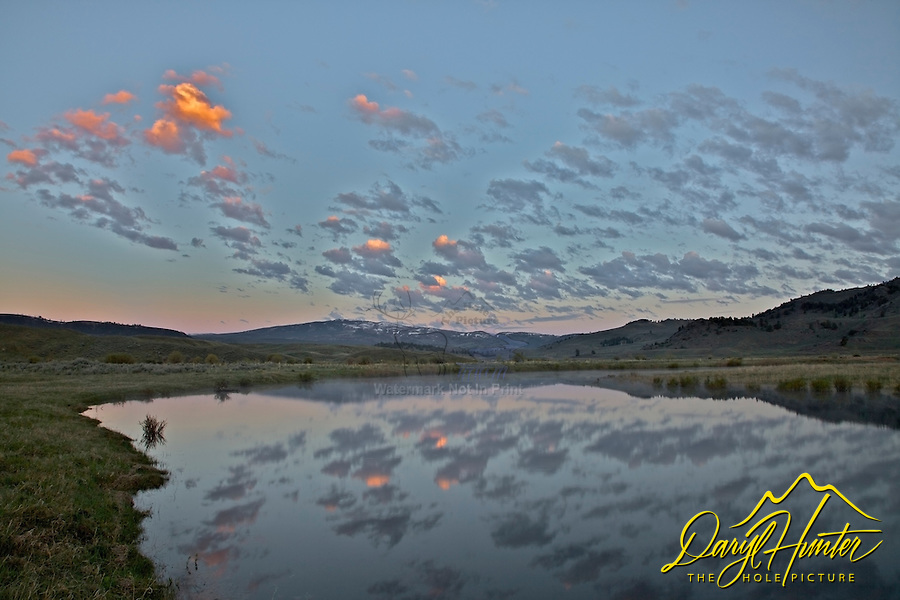 Sunrise at Slough Creek in Yellowstone National Park.