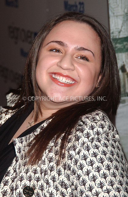 """WWW.ACEPIXS.COM . . . . .....March 20 2007, New York City....Nikki Blonsky attending the premiere of """"Reign Over Me"""" at the Skirball Center for the Performing Arts at New York University.....Please byline: Kristin Callahan - ACEPIXS.COM..... *** ***..Ace Pictures, Inc:  ..Philip Vaughan (646) 769 0430..e-mail: info@acepixs.com..web: http://www.acepixs.com"""