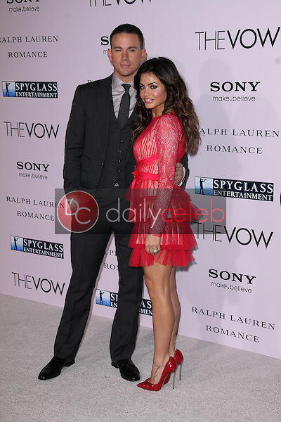 """Channing Tatum, Jenna Dewan<br /> at """"The Vow"""" World Premiere, Chinese Theater, Hollywood, CA 02-06-12<br /> David Edwards/DailyCeleb.com 818-249-4998"""