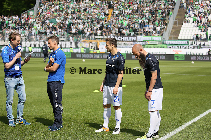 """Spielerverabschiedung Michael Stegmeyer, Milan Ivana, Marco """"Toni"""" Sailer - SV Darmstadt 98 vs. Borussia Mönchengladbach 34. Spieltag, Stadion am Boellenfalltor"""