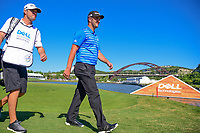 Jon Rahm (ESP) departs 13 for 14 during round 4 of the World Golf Championships, Dell Technologies Match Play, Austin Country Club, Austin, Texas, USA. 3/25/2017.<br /> Picture: Golffile | Ken Murray<br /> <br /> <br /> All photo usage must carry mandatory copyright credit (&copy; Golffile | Ken Murray)