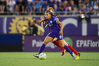 Orlando, Florida - Sunday, May 14, 2016: Orlando Pride defender Kristen Edmonds (12) during a National Women's Soccer League match between Orlando Pride and New York Flash at Camping World Stadium.