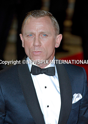 "DANIEL CRAIG.attend the World Premiere of the twenty-third 007 adventure, ""Skyfall"", Royal Albert Hall, London_23/10/2012.Mandatory Credit Photo: ©Butler/NEWSPIX INTERNATIONAL..**ALL FEES PAYABLE TO: ""NEWSPIX INTERNATIONAL""**..IMMEDIATE CONFIRMATION OF USAGE REQUIRED:.Newspix International, 31 Chinnery Hill, Bishop's Stortford, ENGLAND CM23 3PS.Tel:+441279 324672  ; Fax: +441279656877.Mobile:  07775681153.e-mail: info@newspixinternational.co.uk"