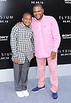 Anthony Anderson and Nathen at The TriStar Pictures' World Premiere of Elysium held at The Regency Village Theatre in Westwood, California on August 07,2013                                                                   Copyright 2013 Hollywood Press Agency