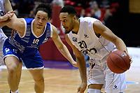 GRONINGEN - Basketbal, Donar - Landstede Zwolle, Martiniplaza,  Dutch Basketball League, seizoen 2017-2018, 12-11-2017,  Donar speler Brandyn Curry mer Landstede speler Jordan Gregory