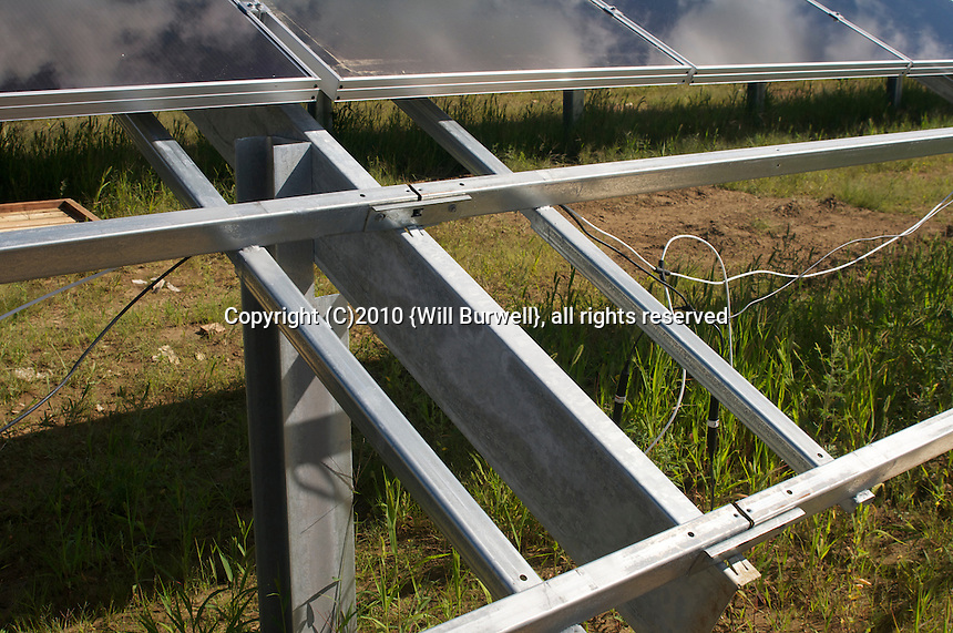 Detil of Solar Panel Frame
