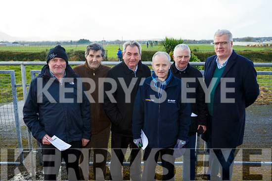 Attending the Kingdom Cup coursing meeting in Tralee are the Austin Stacks gang, l-r, John Joe Sugrue, Pat Joe McQuinn, John O'Connell, Tim Slattery, Tim Slattery and Liam Lynch.
