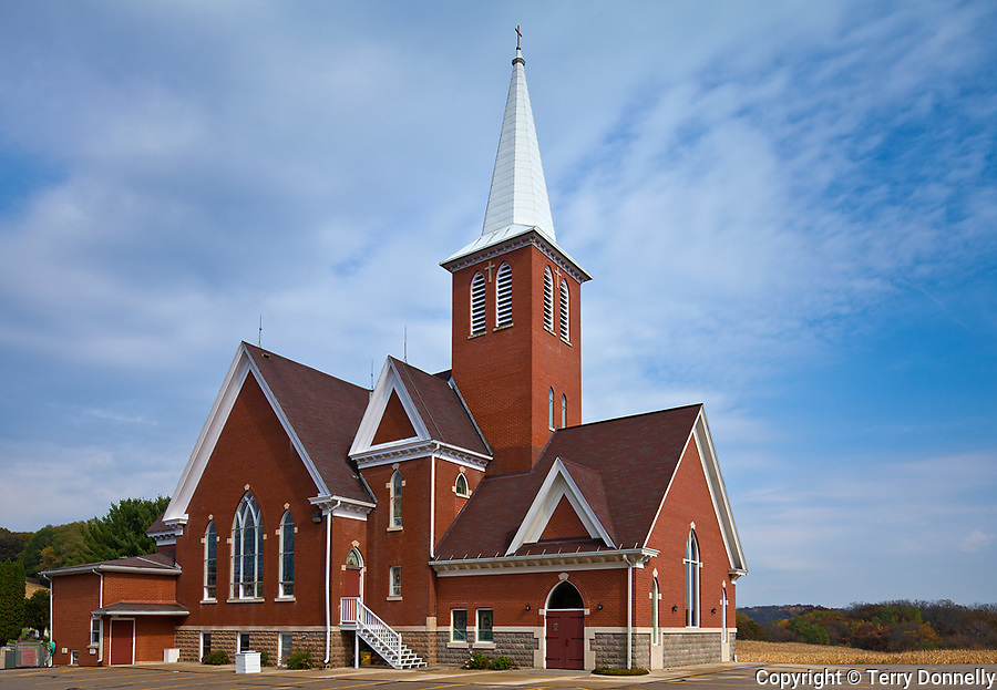 Dane County, Wisconsin<br /> Vermont Lutheran Church near the village of Black Earth