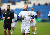 30th September 2017, Cardiff City Stadium, Cardiff, Wales; EFL Championship football, Cardiff City versus Derby County; Johnny Russell of Derby County warming up