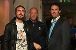 Craig Cunningham Niall Reynolds and Graham Hughes at the Launch of the White Collar boxing Fight Night in the West Court Hotel...Picture Fran Caffrey www.newsfile.ie
