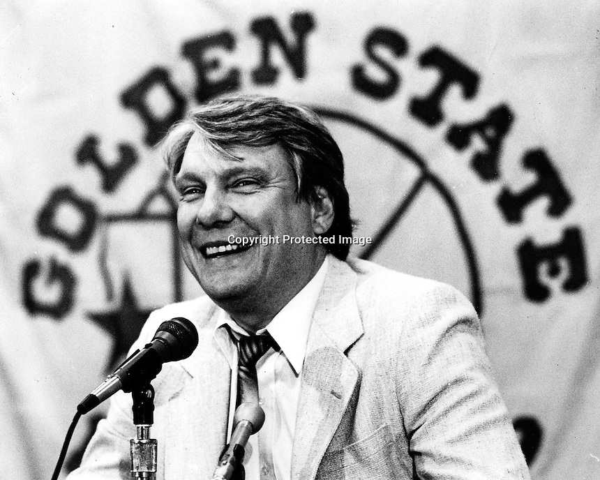 Golden State Warrior head coach Don Nelson (1987 photo by Ron Riesterer)