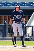Tampa Bay Rays minor league outfielder Drew Vettleson during an Instructional League game vs. the Minnesota Twins at Charlotte Sports Park in Port Charlotte, Florida;  October 5, 2010.  Photo By Mike Janes/Four Seam Images