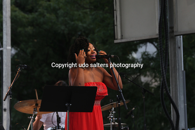 Concerts at Lincoln Harbor Park on the Weehawken Waterfront featuring Alicia Olatuja and her band (Toru Dodo on Piano, David Rosenthal on Guitar, Keith Witty on bass, Juan Pastor on drums, Rasul A-Sallam on vocals, Schadrack Pierre on vocals and guest Caleb Collins on piano and vocals<br />