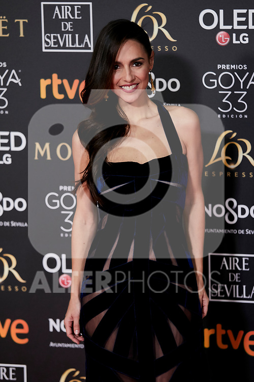 Cristina Brondo attends to 33rd Goya Awards at Fibes - Conference and Exhibition  in Seville, Spain. February 02, 2019. (ALTERPHOTOS/A. Perez Meca)