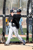 Adam Dunn #32 of the Chicago White Sox participates in spring training workouts at the White Sox training facility on February 24, 2011  in Glendale, Arizona. .Photo by:  Bill Mitchell/Four Seam Images.