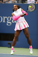 FLUSHING NY- SEPTEMBER 05: Serena Williams Vs Yaroslava Shvedova on Arthur Ashe Stadium at the USTA Billie Jean King National Tennis Center on September 5, 2016 in Flushing Queens. Credit: mpi04/MediaPunch