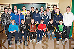 TOP TEAM: The Abbeydorney U15 team winners of the Edmond Flaive Memorial Shield at their awards ceremony at the Abbeydorney sports complex on Friday seated l-r: Stephen O'Sullivan, Colm McCarthy, John Shanahan, Keith McCarthy, Daniel Murphy and David Egan. Back l-r: Alex O'Mahony, Sean O'Mahony, Brendan O'Leary, Aaron Conway, Tom McElligott, Dara Scanlon, Stephen Egan, Ronan Donovan, Michael O'Leary, Dillon Heneberry, Barry Horgan, Gary Neenan, Owen O'Connor and J P Burns.