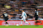 Marco Asensio Willemsen of Real Madrid in action during the UEFA Champions League 2017-18 Round of 16 (1st leg) match between Real Madrid vs Paris Saint Germain at Estadio Santiago Bernabeu on February 14 2018 in Madrid, Spain. Photo by Diego Souto / Power Sport Images