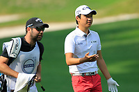Jeunghun Wang (KOR) in action during the third round of the Volvo China Open played at Topwin Golf and Country Club, Huairou, Beijing, China 26-29 April 2018.<br /> 28/04/2018.<br /> Picture: Golffile | Phil Inglis<br /> <br /> <br /> All photo usage must carry mandatory copyright credit (&copy; Golffile | Phil Inglis)
