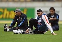India's Harbhajan Singh stretches during 2nd Twenty20 cricket match match between New Zealand Black Caps and West Indies at Westpac Stadium, Wellington, New Zealand on Friday, 27 February 2009. Photo: Dave Lintott / lintottphoto.co.nz