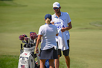 Cristie Kerr (USA) fist bumps her caddie after sinking her long birdie putt on 7 during round 2 of the 2018 KPMG Women's PGA Championship, Kemper Lakes Golf Club, at Kildeer, Illinois, USA. 6/29/2018.<br /> Picture: Golffile | Ken Murray<br /> <br /> All photo usage must carry mandatory copyright credit (&copy; Golffile | Ken Murray)