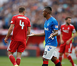 05.08.18 Aberdeen v Rangers: Alfredo Morelos expresses his innocence to the linesman