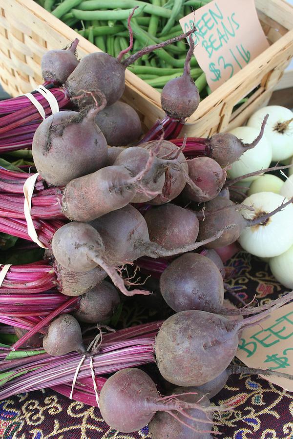 Fresh beets at market