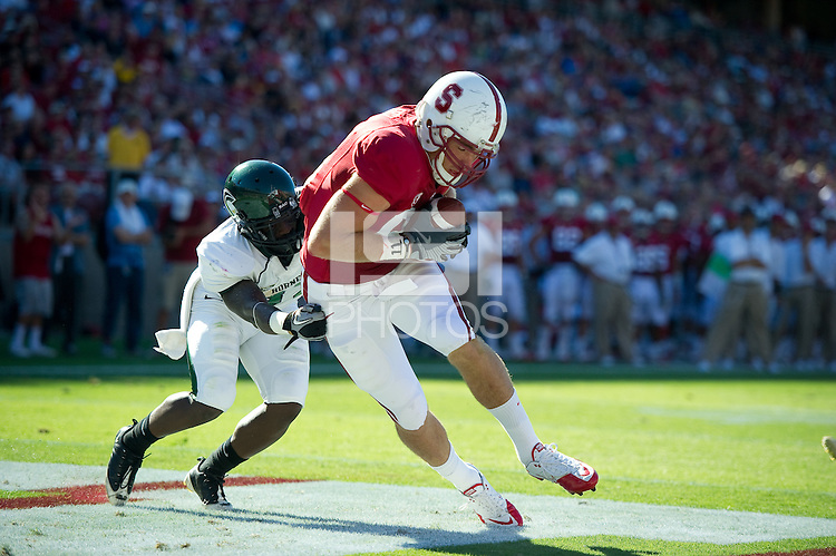 STANFORD, CA - September 4:  Zach Ertz during a football game against Sacramento State, September 4, 2010 in Stanford, California. Stanford won 52-17.