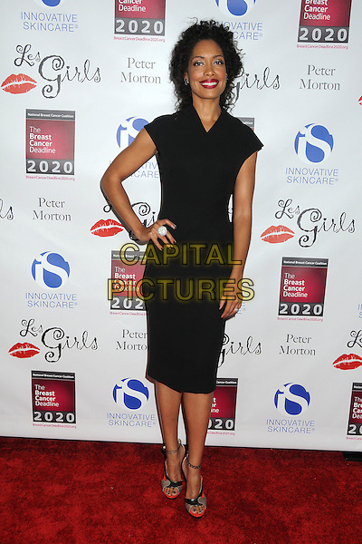Gina Torres.Les Girls Enticing 11th Annual Cabaret Event Held At Avalon, Hollywood, California, USA..October 17th, 2011.full length hand on hip dress black .CAP/ADM/BP.©Byron Purvis/AdMedia/Capital Pictures.