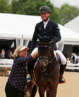 LEXINGTON, KY - April 30, 2017.  Michael Jung celebrates with his Mother.  #54 Fischerrocana FST and Michael Jung from Germany win the 2017 Rolex Three Day Event for the third consecutive year at the Kentucky Horse Park.  Lexington, Kentucky. (Photo by Candice Chavez/Eclipse Sportswire/Getty Images)