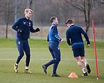 06.03.2020: Rangers training: Filip Helander with Andy Halliday and Ryan Jack