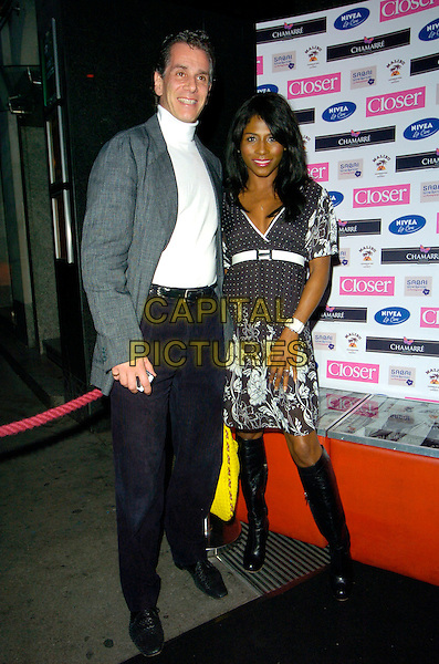 SINITTA.Attending Brian Friedman's Birthday Party, Punk, 14 Soho Street, London, England, June 7th 2007..full length black and white dress boots belt.CAP/CAN.©Can Nguyen/Capital Pictures