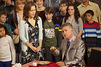 A Cookie Cutter Christmas (2014)<br /> Alan Thicke &amp; Erin Krakow<br /> *Filmstill - Editorial Use Only*<br /> CAP/KFS<br /> Image supplied by Capital Pictures