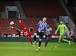 Stephen Mallon of Sheffield Utd attempts a volley in the last minutes of the game during the Professional Development League match at Bramall Lane, Sheffield. Picture date: 26th November 2019. Picture credit should read: Simon Bellis/Sportimage