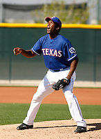 Neftali Feliz   - Texas Rangers - 2009 spring training.Photo by:  Bill Mitchell/Four Seam Images