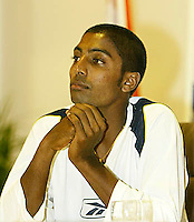 20030918, Zwolle, Davis Cup, NL-India, Prakash AMRITRAJ