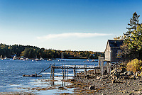 Coastal shack, Mt Desert Island, Maine, USA