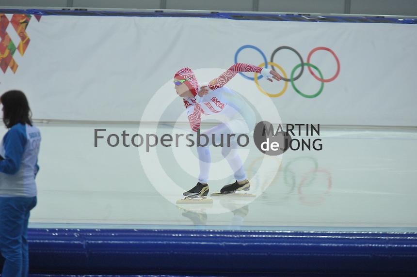 OLYMPICS: SOCHI: Adler Arena, 13-02-2014, 1000m Ladies, Yekaterina Lobysheva (RUS), ©foto Martin de Jong