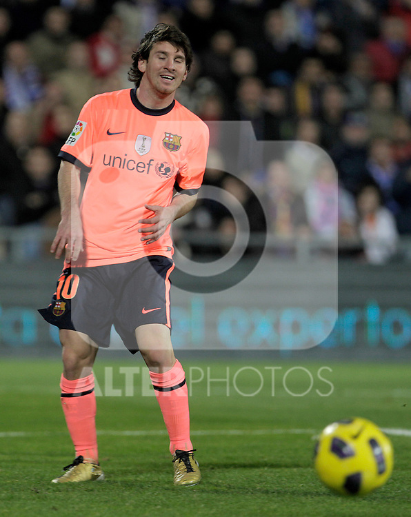 FC Barcelona's Lionel Messi during La Liga match.November 07,2010. (ALTERPHOTOS/Acero)