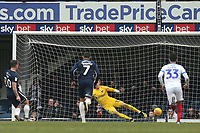 Simon Cox of Southend United scores the second Blues goal from the penalty spot during Southend United vs Portsmouth, Sky Bet EFL League 1 Football at Roots Hall on 16th February 2019