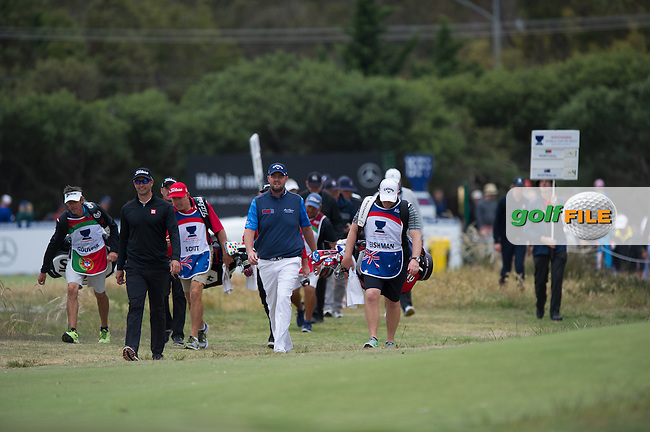Adam Scott (AUS), Mark Leishman (AUS) during the ISPS Handa World Cup of Golf, from Kingston heath Golf Club, Melbourne Australia. 26/11/2016<br /> Picture: Golffile | Anthony Powter<br /> <br /> <br /> All photo usage must carry mandatory copyright credit (&copy; Golffile | Anthony Powter)