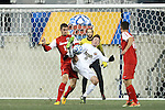 13 December 2013: Notre Dame's Nick Besler (8) is defended by New Mexico's Kyle Venter (left). The University of Notre Dame Fighting Irish played the University of New Mexico Lobos at PPL Park in Chester, Pennsylvania in a 2013 NCAA Division I Men's College Cup semifinal match. Notre Dame won the game 2-0.