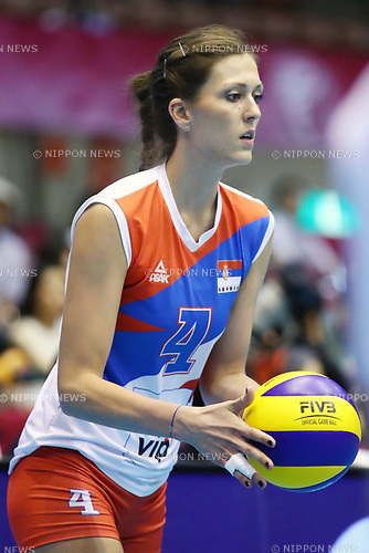 Bojana Zivkovic (SRB), <br /> JULY 16, 2017 - Volleyball : FIVB Volleyball World Grand Prix SENDAI 2017 match between <br /> Serbia 3-1 Thailand <br /> at Kamei Arena Sendai, in Sendai, Japan. <br /> (Photo by Sho Tamura/AFLO)