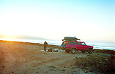 MEXICO, Baja, surfers camping at the Seven Sisters, Baja Norte