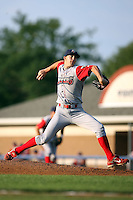 August 3rd 2008:  Pitcher Tyler Cloyd of the Williamsport Crosscutters, Class-A affiliate of the Philadelphia Phillies, during a game at Dwyer Stadium in Batavia, NY.  Photo by:  Mike Janes/Four Seam Images