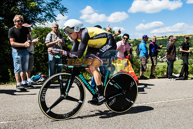 Stef Clement (NED) Team Lotto NL-Jumbo in action during Stage 4 of the Criterium du Dauphine 2017, an individual time trial running 23.5km from La Tour-du-Pin to Bourgoin-Jallieu, France. 7th June 2017. <br /> Picture: ASO/A.Broadway | Cyclefile<br /> <br /> <br /> All photos usage must carry mandatory copyright credit (&copy; Cyclefile | ASO/A.Broadway)