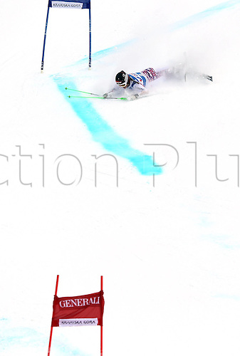 21 01 2012   Kranjska Gora Slovenia Ski Alpine FIS World Cup Giant slalom for women Picture shows Elisabeth Goergl AUT as she falls on the course